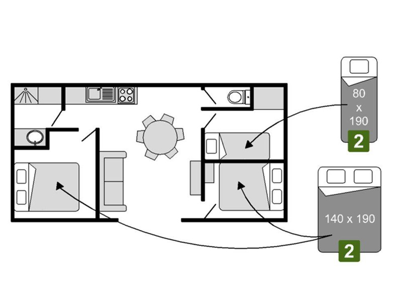 Plan Chalet 3 chambres